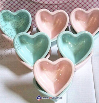 کاسه ترشی خوری قلبی سرامیک