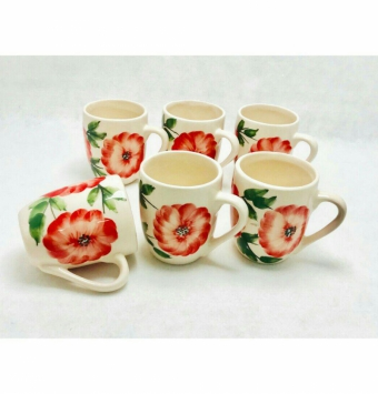 فروش عمده لیوان سرامیک گلدار