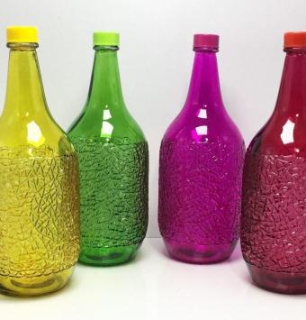 فروش عمده بطری آب 2/5 لیتر رنگی