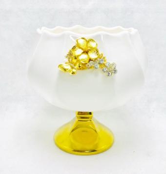 فروش عمده ظرف شكلات خوری طلایی