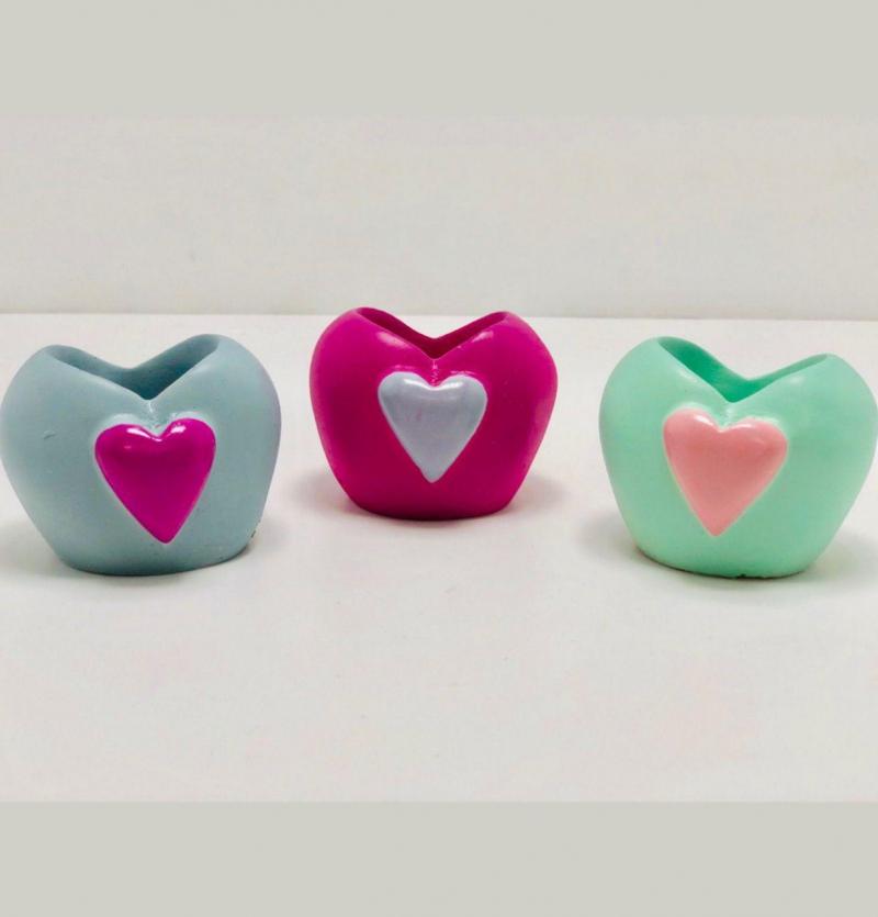فروش عمده گلدان نقلی قلب
