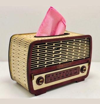 فروش عمده جادستمال چوبی طرح رادیو