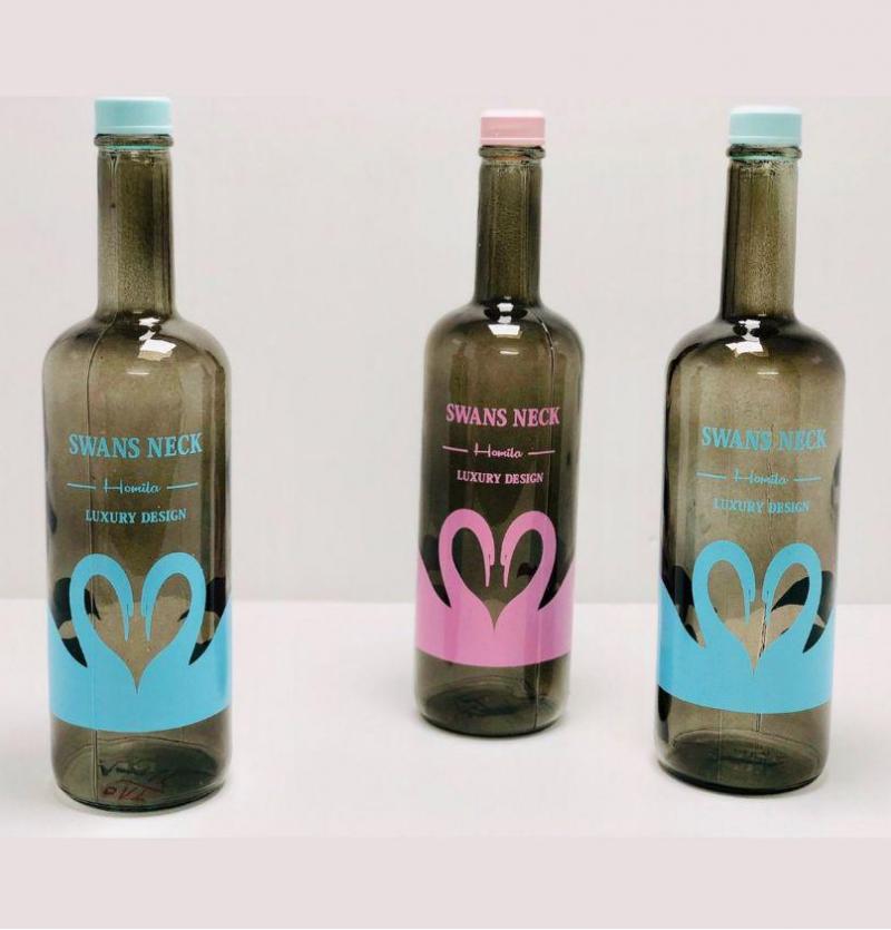 فروش عمده بطری هومیلادودی طرح قو