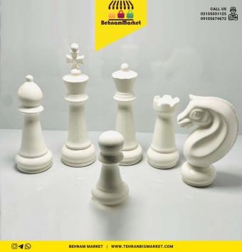 مهره شطرنج جنس خوب سفيد و مشكی