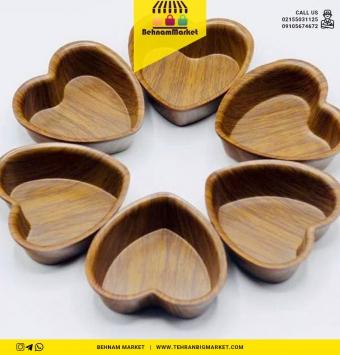 قلب ۶ تایی طرح چوب