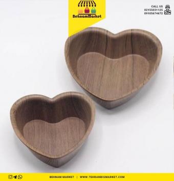 قلب ۲ تایی طرح چوب