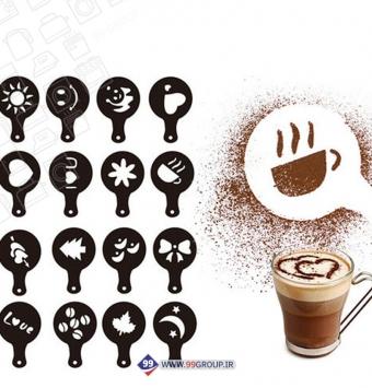 فروش عمده شابلون قهوه 16عددی