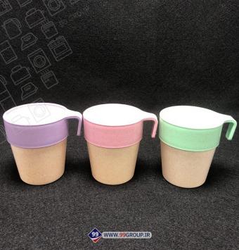 فروش عمده لیوان الیاف گندم 3 تایی new